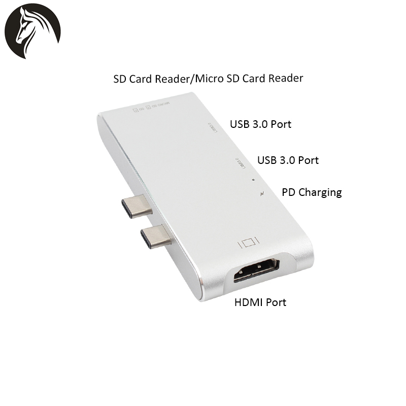 Usb 3.0 Card Reader Super speed Aluminum Type C Adapter usb hub for macbook