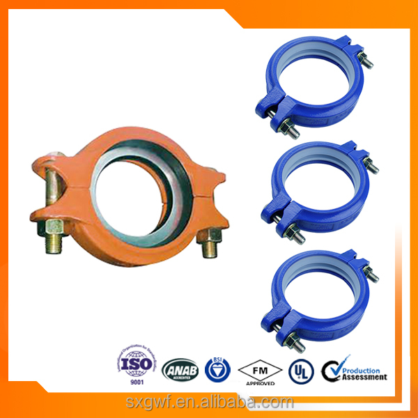 JIS standard Ductile iron Grooved rigid Coupling pipe fittings
