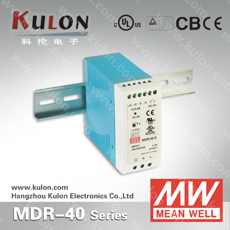 MEAN WELL 40w 12v PFC din rail switch ac/dc Power Supply MDR-40-12
