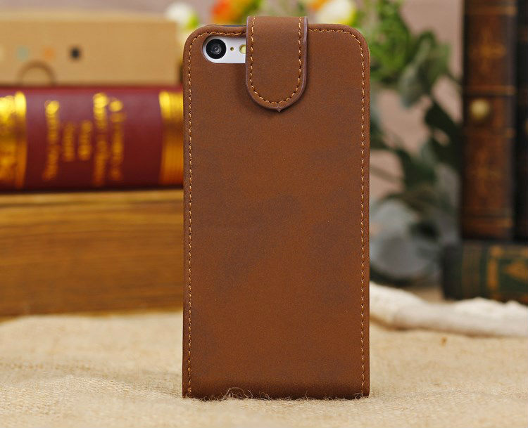 Wallet Style Magnetic Top Flip Leather Case for iPhone 5C