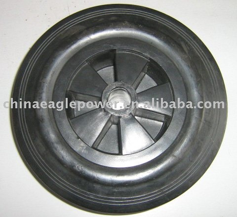10 inch cart rubber wheel