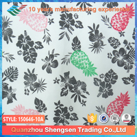 printing pineapple and flower two piece swimming suit fabric