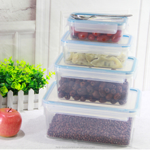 Good quatity 2.3 liters lunch bento box plastic container with locking lid eco friendly container leakproof bento box