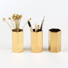 Brass/Metal/Copper /Plated round simple File Organizer & Desk Organizer for brochure holder
