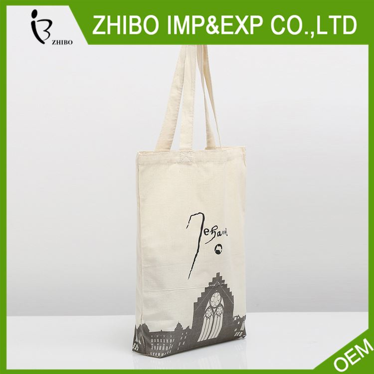 Modern style custom design blank natural cotton tote bags / cotton bag for wholesale
