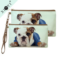 Animal dog print private label cosmetic bags ladies travel sublimation eco beauty cosmetic bag