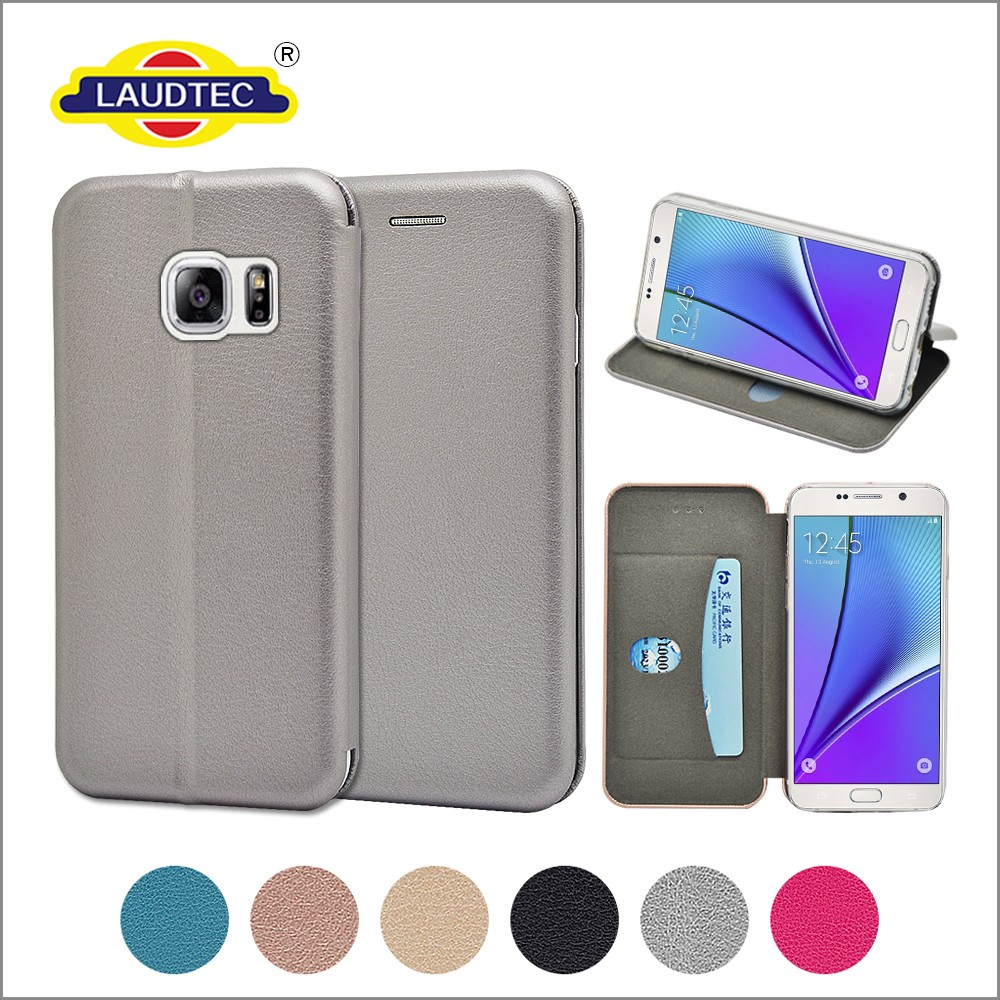 New magnetic leather stand wallet phone case cover for samsung galaxy note 5