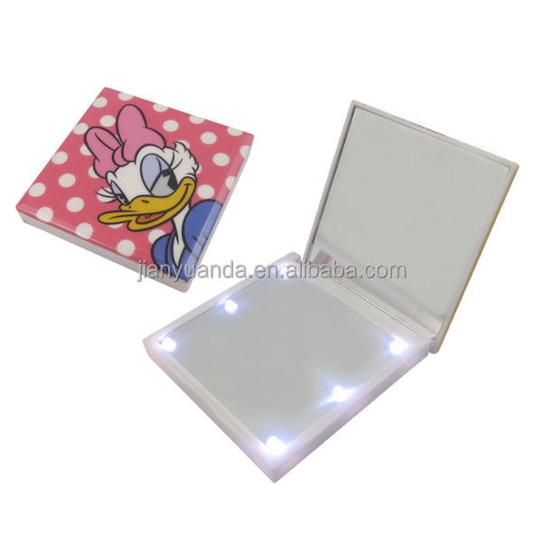 cute small square mirrors lighted make up mirror led makeup mirrors