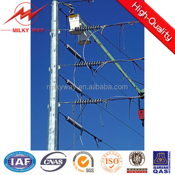 Wuxi 69KV octagonal steel poles with specification