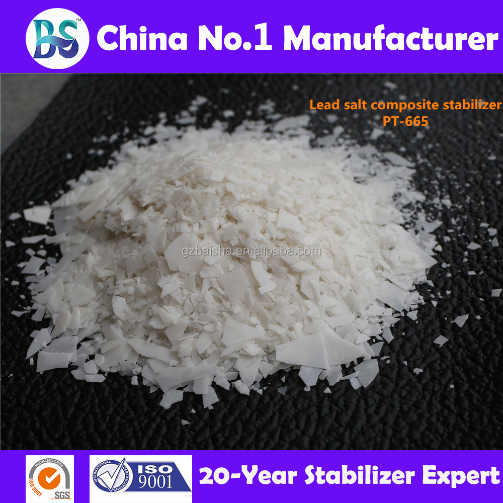 Lead salt pvc stabilizer/additive for window profile/edge banding PT-665