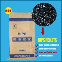 High quality Black HIPS Plastic Raw Material , High Impact Polystyrene Resin, Recycled HIPS granules