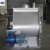 Stainless steel horizontal paddle mixers for powder material