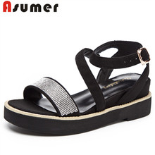 Asumer china wholesale latest ladies flat sandals designs