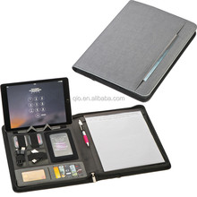 new PU planner notebook set with ipad container and cards/pen holder NOTEBO909