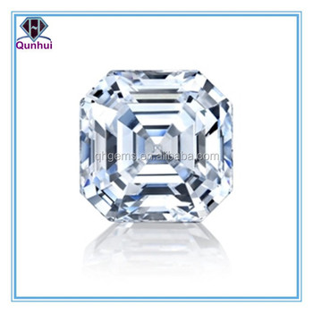Charming bling white square shaped cubic zircon