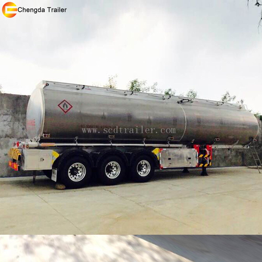 3 compartments 42000 Liters aluminum alloy fuel tanker semi trailer