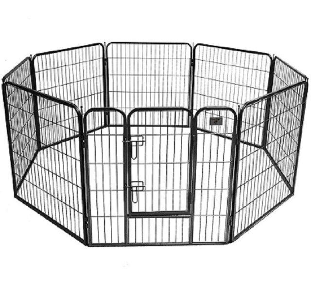 Heavy Duty Extra Large Double Dog Cage Metal Pet Play Pen