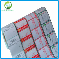 Roll packed pre printed thermal paper price labels for supermarket