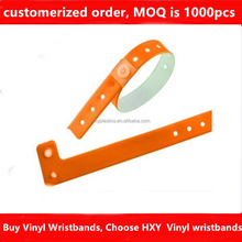 HXY PVC high quality wholesale environmental plastic lock wristband, kids plastic bracelet for promotion