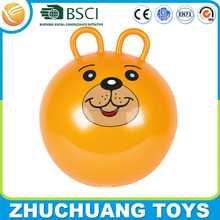 double round handle orange giant jumping hopper ball