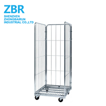 Zinc-Plated Demountable Foldable Metal Roll Storage Container