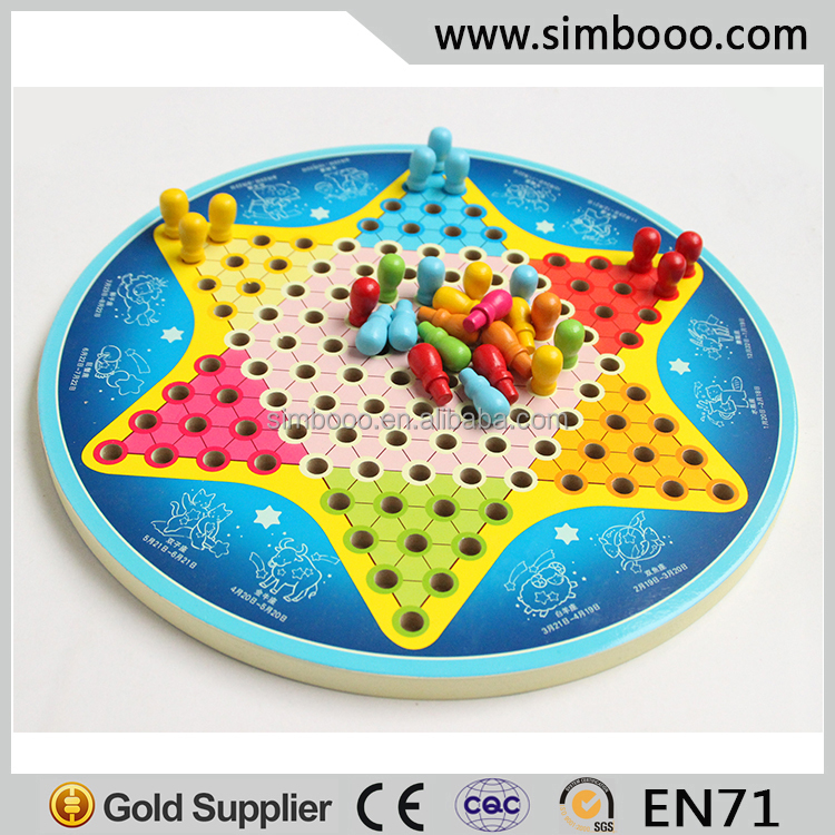 High-class Bouble Sides Wooden Gobang Chinese Checkers Halma Indoor Game Educational Toys Chess Game