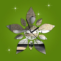 mirror wall clock different shape for christmas ornaments