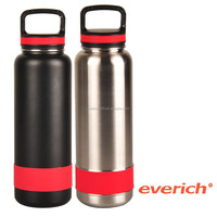 Wide Mouth Insulated Stainless Steel Water Bottle With Carabiner Lid