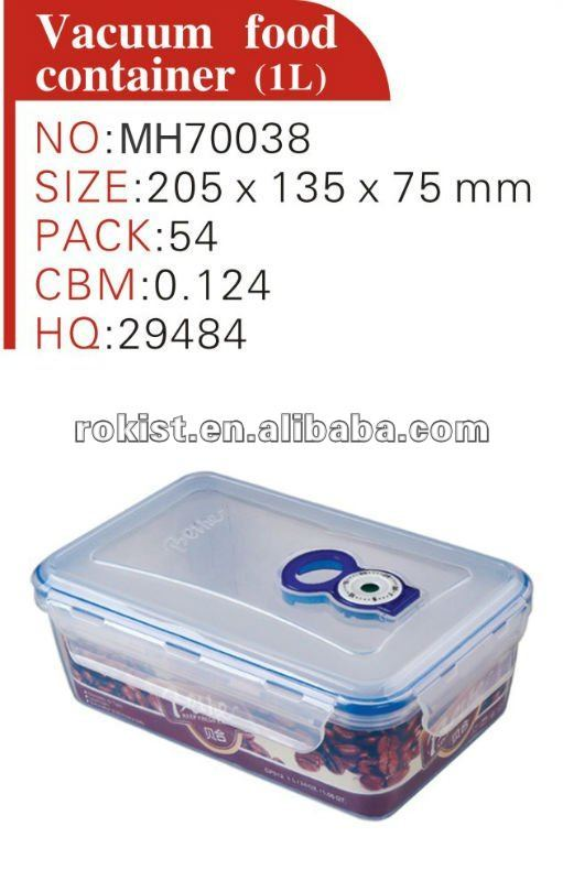 PP food storage, vented plastic food container