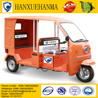Solar Battery Auto Electric Tricycle For Passengers