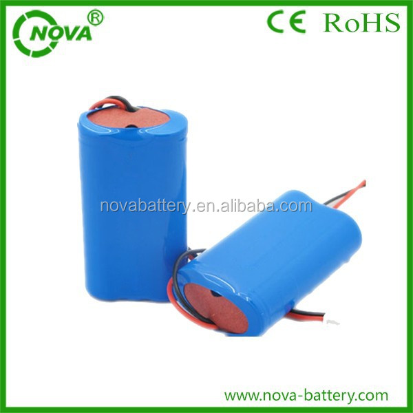 7.4v 700mah li-ion battery pack made for flashlights and spotlights