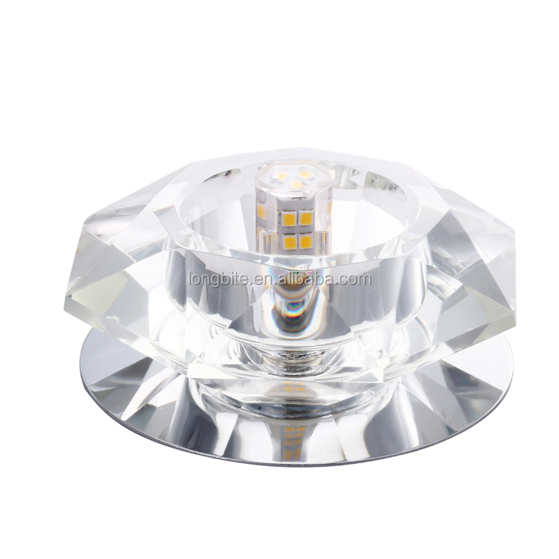 Lobit led Recessed trimless <strong>downlight</strong> with crystal or glass shade