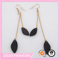 ladies earrings designs pictures daily wear hoop fashion wooden long chain pendant earrings