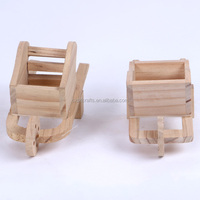 Creative small Wooden trolley modelling