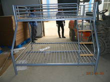 twin over full double bunk bed with wood ladder