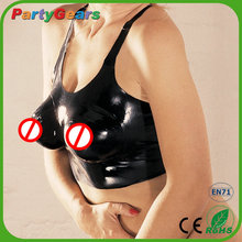 Factory Directly Sale Sexy Fetish Latex Catsuit Bra Women Clothing Sexy with 100% Natural Rubber Exotic Apparel Costumes