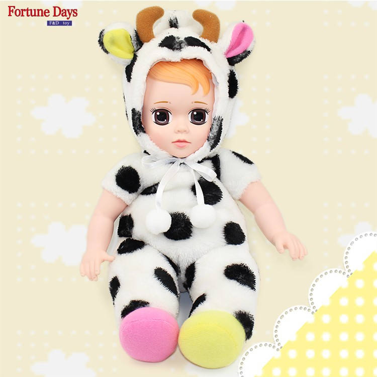 (YW-XR161207) Debisheng Wholesale cute cow toy babe boy plush doll for kids