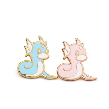 Promotional custom rose gold  hard enamel lovely lapel pin for cartoon