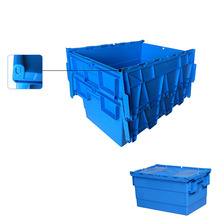Storage moving stackable plastic tote box for transportation