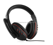 new Gaming Headset for PS4 Voice Control wired HI-FI sound quality Black+Red