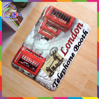 Mini Style London Telephone Booth printed anti-fatigue floor mat
