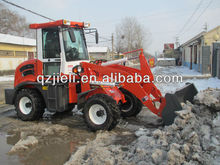 wheel loader zl15 with snow bucket
