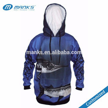 Hot Sale Custom Made Mens Dry Fit Sublimation Fishing Shirts with Hood