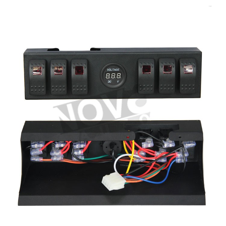 Led Light Bar Led Work Light Switch Control Panel For Jeep