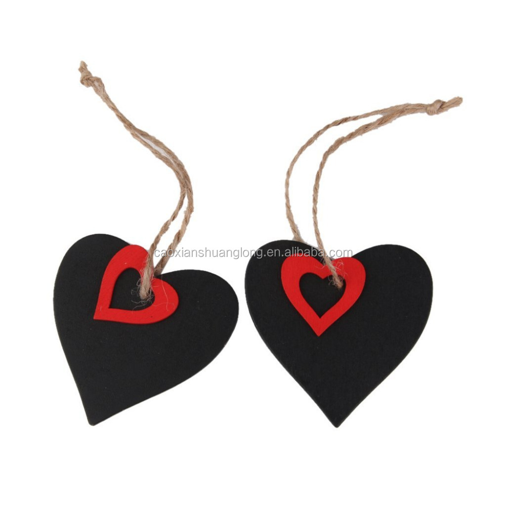 Mini Heart Shape Hanging Wooden Blackboard Gift