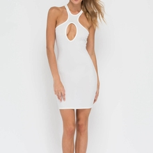 wholesale clothing Ladies Sleeveless Cut Out Detail Sexy Bodycon Dress