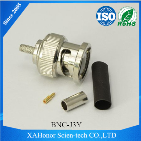 Coaxial connector bnc male for rg59 cable RG55