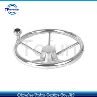 Stainless Steel Boat Steering Wheel with Knob