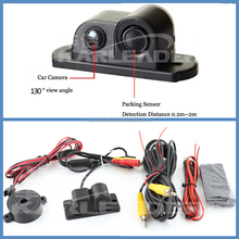 waterproof ultrasonic car lot parking sensor with camera