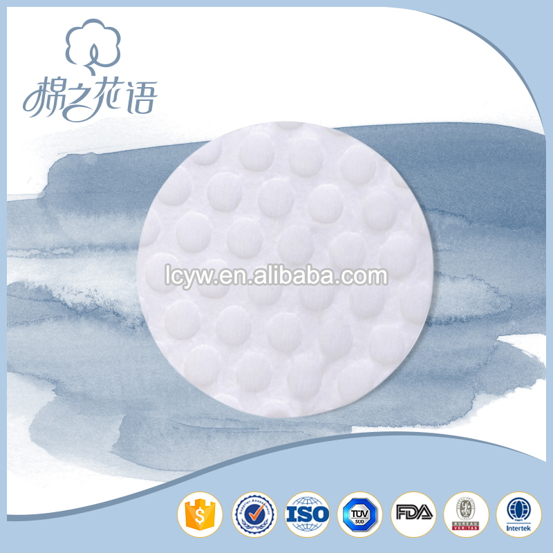 wholesale round cosmetic facial wool dubai sanitary cosmetic with made up brand names cotton pads